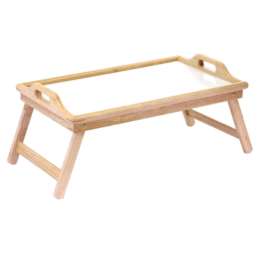 Breakfast Bed Tray With Handle And Foldable Legs Qolture