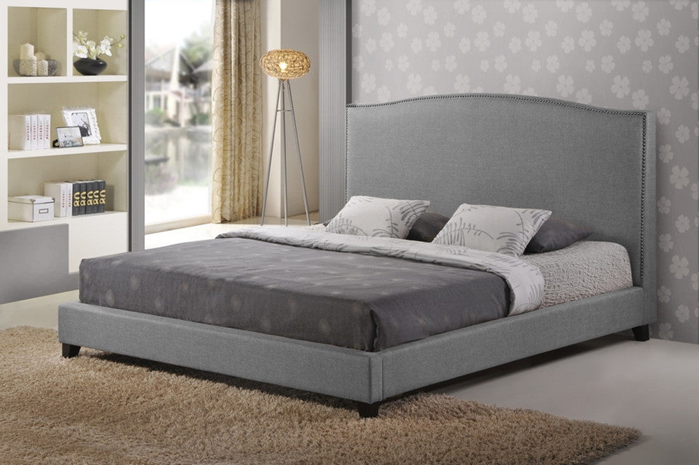 Baxton Studio Aisling Gray Fabric Platform Bed - King Size