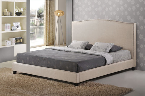 Baxton Studio Aisling Light Beige Fabric Platform Bed - King Size