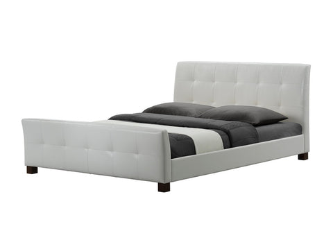 Amara White Modern Bed - Queen Size