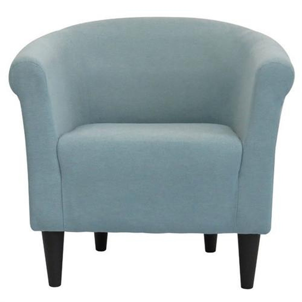 CONTEMPORARY CLASSIC LIGHT BLUE UPHOLSTERED ACCENT ARM CHAIR CLUB CHAIR