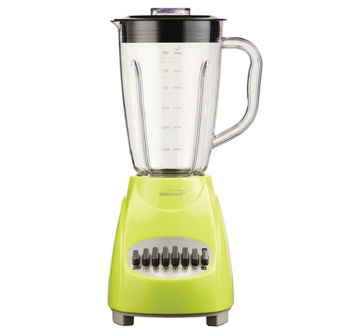 Brentwood 12-Speed Blender with Plastic Jar, Lime Green