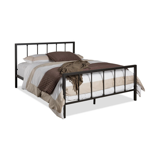 Axton Studio Amy Modern and Contemporary Antique Dark Bronze Queen Size Iron Metal Platform Bed