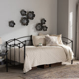 Baxton Studio Dahlia Victorian Style Antique Dark Bronze Finished Twin Size Metal Daybed