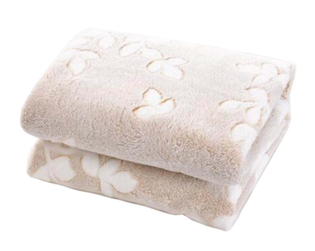 [Leaf-3] Coral Velvet Throw Blanket Couch Sofa Blanket Lovely Baby Blanket