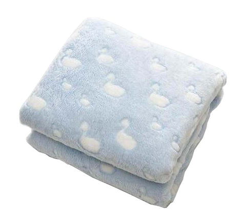 [Blue] Coral Velvet Throw Blanket Couch Sofa Blanket Lovely Baby Blanket