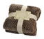 [Coffee Lattice] Flannel Throw Blanket Baby Blanket Couch Sofa Blanket For Nap