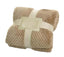 [Khaki Lattice] Flannel Throw Blanket Baby Blanket Couch Sofa Blanket For Nap