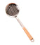 Long Handle Colander Pot Scoop Kitchen Cooking Tool, Wooden Handle