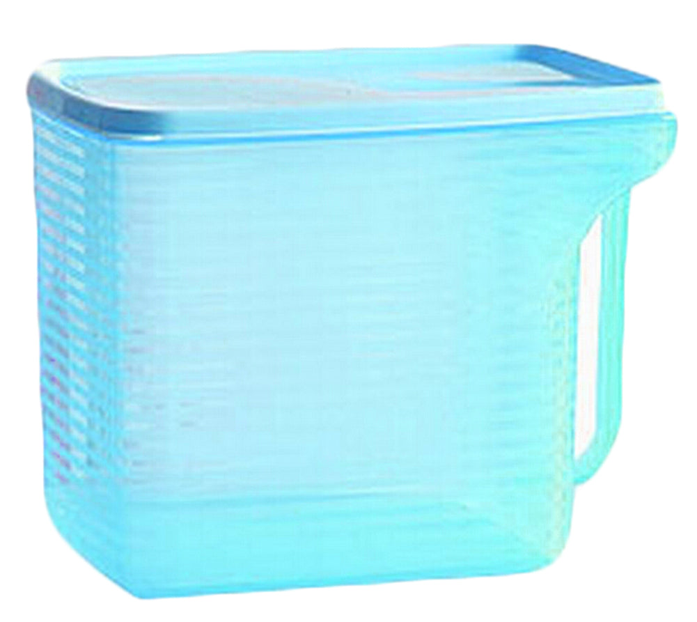 Set of 2 Practical Kitchen Storage Bins Cereals/Snacks Storage Canisters, Blue