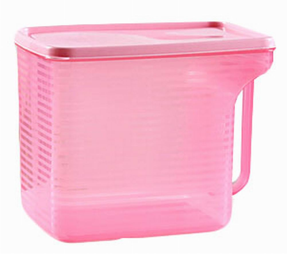 Set of 2 Practical Kitchen Storage Bins Cereals/Snacks Storage Canisters, Pink