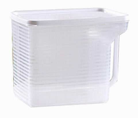 Set of 2 Practical Kitchen Storage Bins Cereals/Snacks Storage Canisters, White