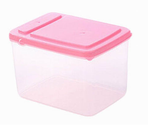 Set of 3 Practical Kitchen Storage Bins Cereals/Snacks Storage Canisters, Pink