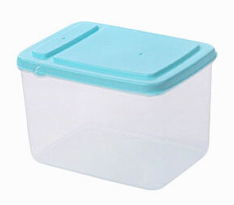 Set of 3 Practical Kitchen Storage Bins Cereals/Snacks Storage Canisters, Blue