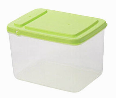 Set of 3 Useful Kitchen Storage Bins Cereals/Snacks Storage Canisters, Green