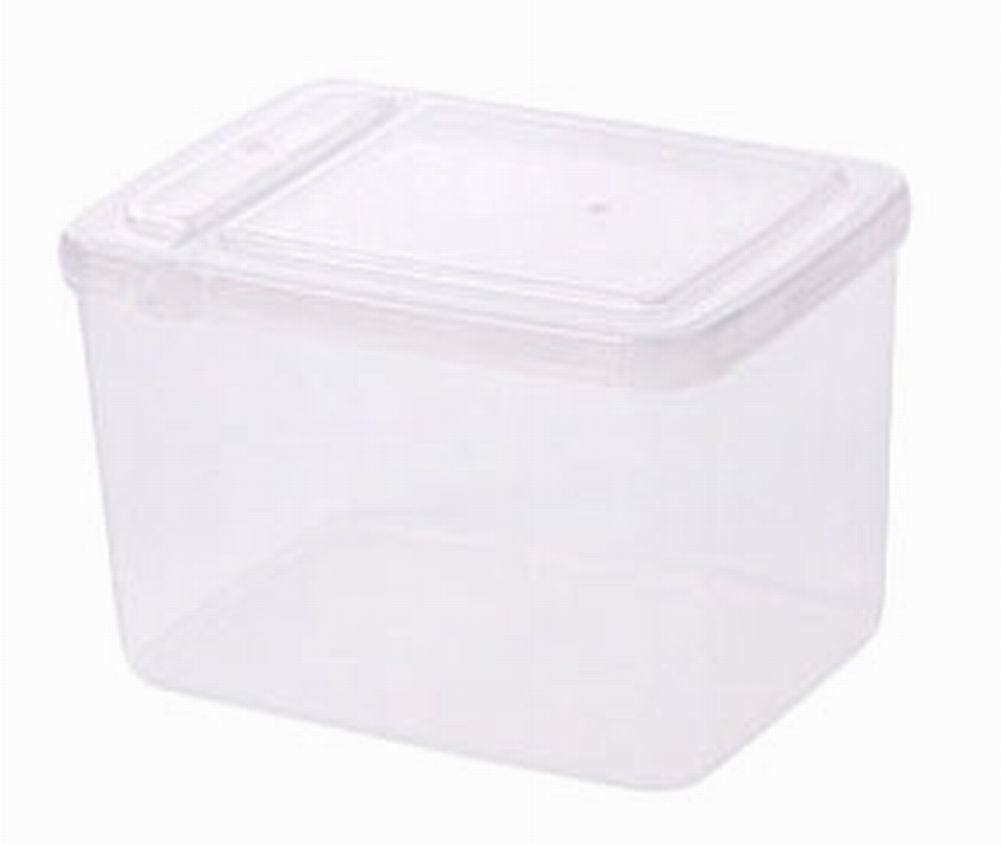 Set of 3 Kitchen Storage Bins Practical Cereals/Snacks Storage Canisters,  White