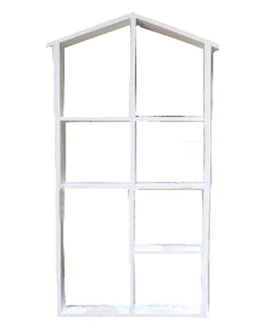Wood Practical Storage Shelves Storage Rack Wall Hanging, White