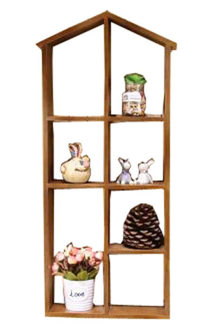 Classical Natural Wood Wall Hanging Storage Shelves Storage Racks