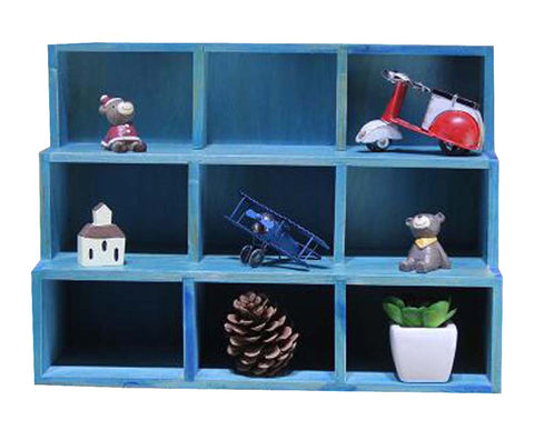 Durable Wood Storage Shelves Hanging Wooden Storage Rack Home Decoration