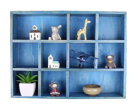 Classical Wood High-quality Storage Shelves Storage Rack, Blue