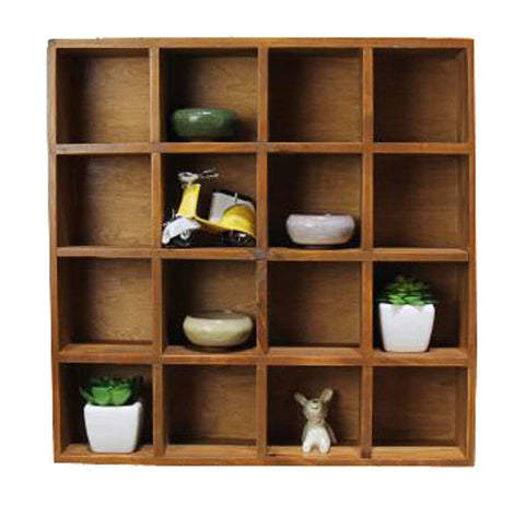 High-quality Wood Storage Shelves Wooden Storage Rack With 16 Drawers