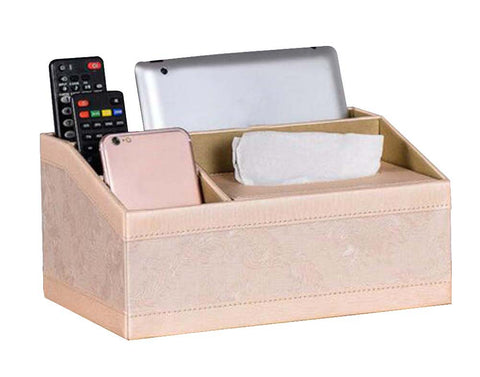 Lovely Beautiful Wood&Leather Storage Box/ Creative Multipurpose Tissue Box