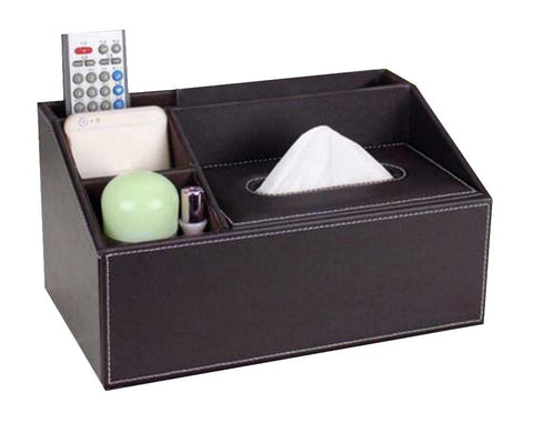Multipurpose Storage Box/ Creative Tissue Box 5 Cells, Coffee