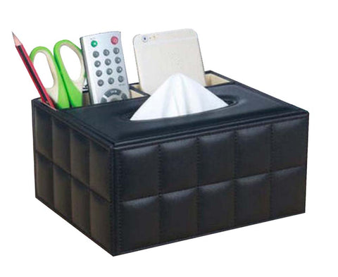 Creative Student Desktop Storage Box/ Multifunctional Tissue Box, Black