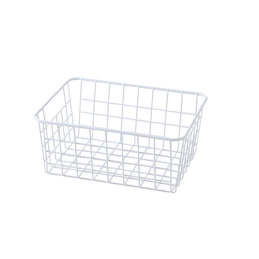Wrought Iron Desktop Storage Basket Bathroom /Kitchen Storage Basket