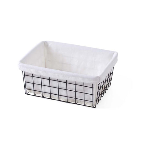 Wrought Iron Desktop Storage Basket Bathroom /Kitchen Storage Basket with Liners