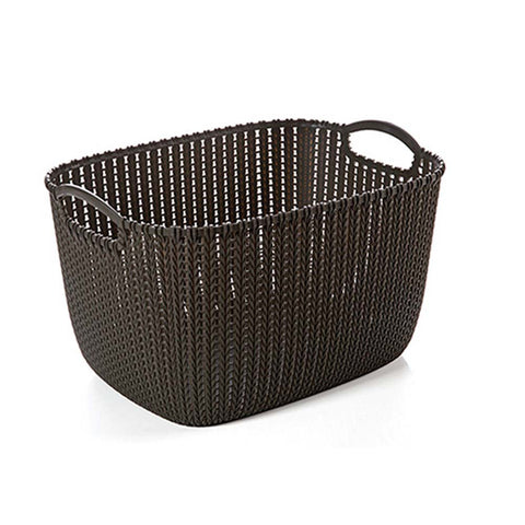 Portable Bathroom Cosmetic Organizer  Plastic Woven Storage Basket Box