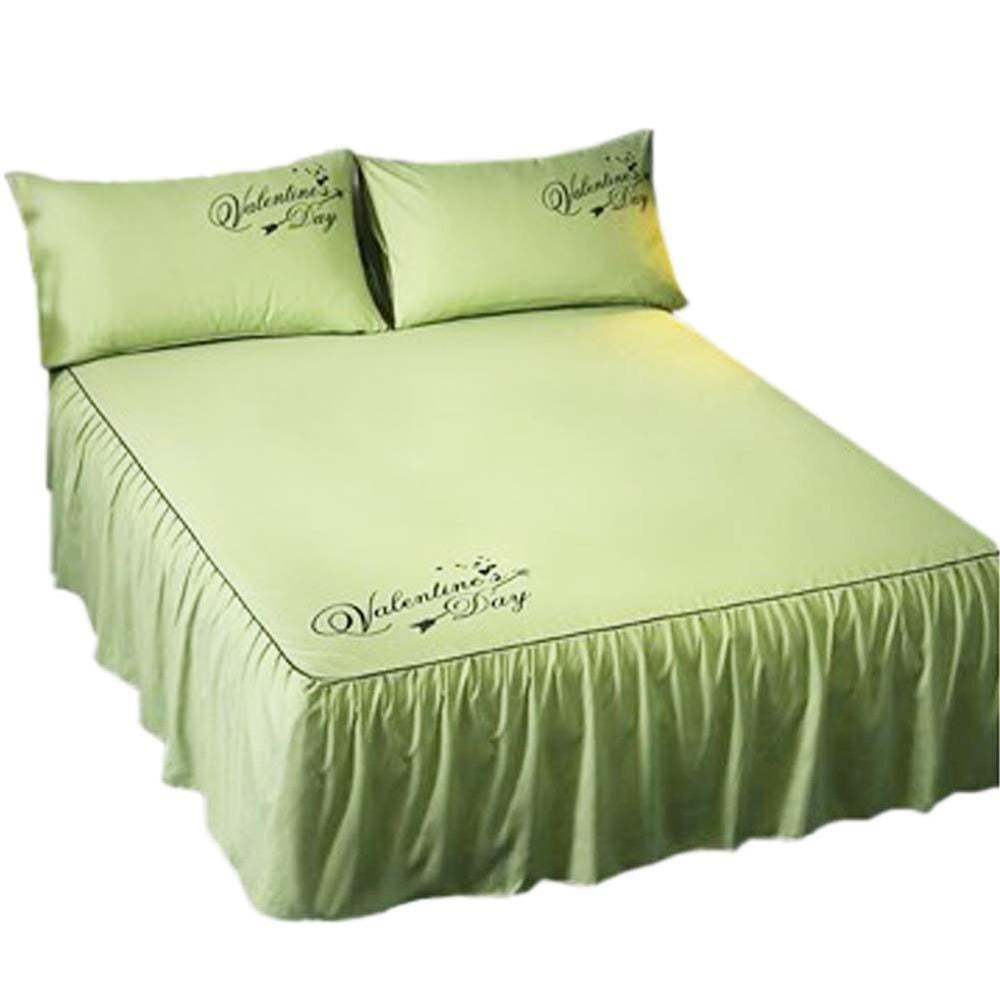 Luxurious Durable Pure Color Microfiber Bedspread (Green)