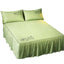 Luxurious Durable Bed Covers Pure Color Bedspreads (Green)