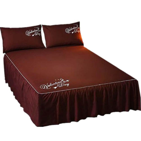 Luxurious Durable Pure Color Microfiber Bedspread (Brown)