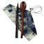 Japanese Style Natural Wooden Chopsticks Spoon Cutlery Set Travel Cloth Carry Bag Three-piece Tableware-C04