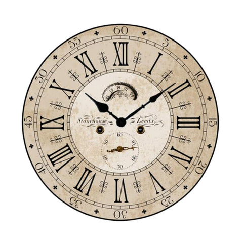 "12"" European Retro Wall Clock Classical Decor Silence Hanging Clock, A"