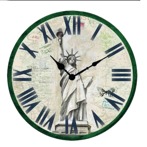 "12"" European Retro Wall Clock Classical Decor Silence Hanging Clock, D"