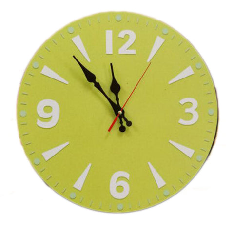 "14"" Retro Unique Wooden Wall Clock Decor Silence Hanging Clock, #02"