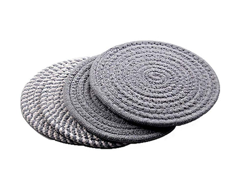 Insulation Mat Meal Mat Bowl Mat Anti-hot Pad Tableware Mat Braided 4 pieces(B)