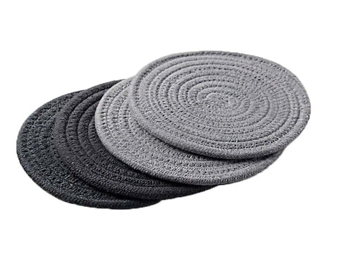 Insulation Mat Meal Mat Bowl Mat Anti-hot Pad Tableware Mat Braided 4 pieces(C)