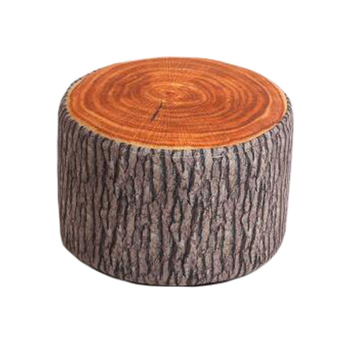 Household Creative Round Stool Sofa Footrest Stools with Detachable Cover, Tree stump