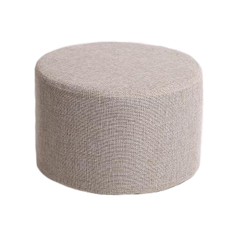 Household Creative Round Stool Sofa Footrest Stools with Detachable Cover, A