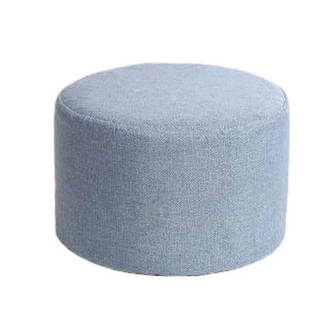 Household Creative Round Stool Sofa Footrest Stools with Detachable Cover, Light Blue