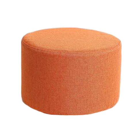 Household Creative Round Stool Sofa Footrest Stools with Detachable Cover, Orange color