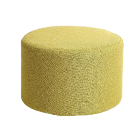 Household Creative Round Stool Sofa Footrest Stools with Detachable Cover, Green