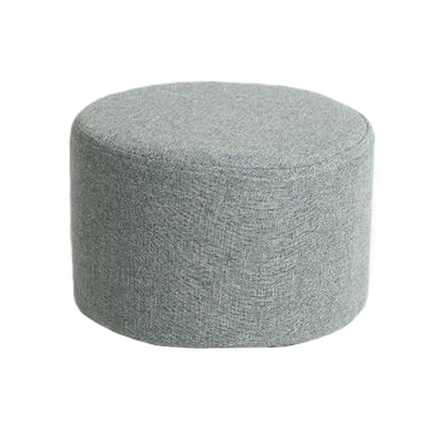 Household Creative Round Stool Sofa Footrest Stools with Detachable Cover, D