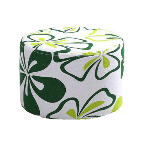 Household Creative Round Stool Sofa Footrest Stools with Detachable Cover, E