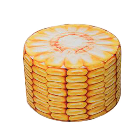 Household Creative Round Stool Sofa Footrest Stools with Detachable Cover, Corn
