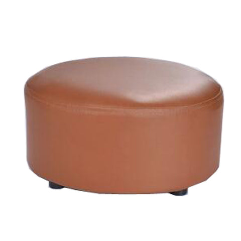 Creative Round Modern Small Faux Leather Stool Shoes Stool  Sofa Pier, Light Brown