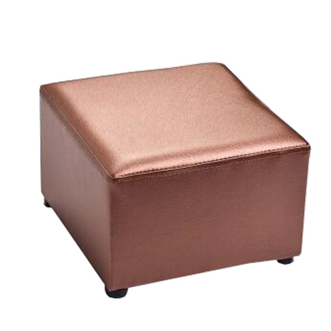 Fashionable Square Faux Leather Modern Small Stool Table Stool Sofa Pier Ottoman Stool